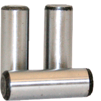 DOWEL PINS, THROUGH HARDENED, PLAIN, ALLOY