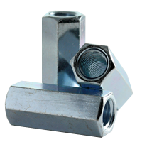 HEX COUPLING NUT, A563 A, ZINC CR+3