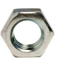 FINISHED HEX JAM NUT, ZINC CR+3