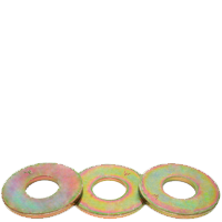 USS FLAT WASHER, THRU HARDENED, ZINC/YELLOW (IMPORT)