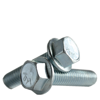 HEX HEAD SERRATED FLANGE SCREW, GRADE 5, ZINC CR+3