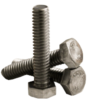 HEX TAP BOLT, A307 GRADE A, PLAIN, LOW CARBON