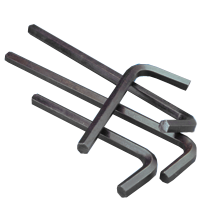 METRIC HEX KEYS 6150 CRV ALLOY, SHORT ARM, BLACK (IMPORT)