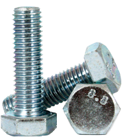 METRIC 8.8 HEX HEAD BOLT / SCREW, DIN 931 / 933, ZINC CR+3