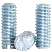 SLOTTED SET SCREW, CASE HARDENED, ZINC PLATE