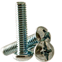 MACHINE SCREW, ROUND HEAD PHILLIPS/SLOTTED COMBO, ZINC CR+3