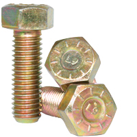 Item # 25C50HCS9D, 1/4-20 X 1/2 HEX CAP SCREW L9 ALLOY ZINC DICHROMATE On  Coburn-Myers Fastening Systems, Inc