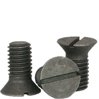 SLOTTED FLAT COUNTERSUNK HEAD CAP SCREW, PLAIN, LOW CARBON