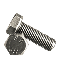 METRIC 8.8 HEX HEAD SCREW, DIN 933/DIN 961, PLAIN