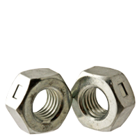GRADE A, REVERSIBLE HEX LOCKNUT, ZINC CR+3