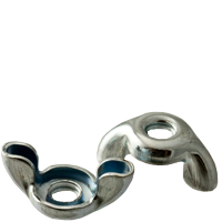 WING NUT, ZINC CR+3, LOW CARBON
