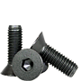 FLAT SOCKET CAP SCREW, THERMAL BLACK OXIDE, ALLOY (INCH)