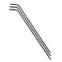 HEX KEYS 6150 CRV ALLOY, LONG ARM, BLACK (IMPORT)