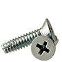 THREAD CUTTING SCREW, TYPE F, ZINC, LOW CARBON