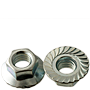 SERRATED FLANGE HEX LOCKNUT, CASE HARDENED, ZINC CR+3